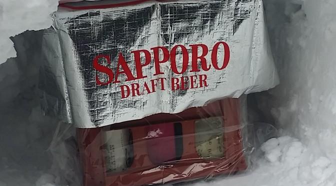 松之山にゆかりのある酒「越の白鳥」を自家製の雪中貯蔵